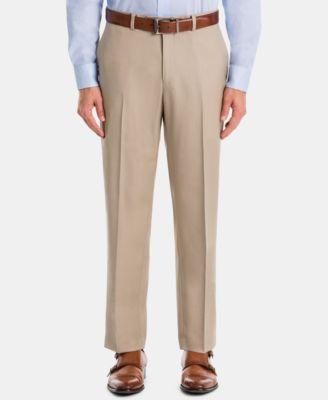 Men's UltraFlex Classic-Fit Tan Wool Pants