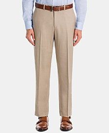 Men's UltraFlex Classic-Fit Tan Wool Pants