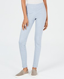 Style & Co Petite Curvy Seamed Ponté-Knit Pants, Created for Macy's