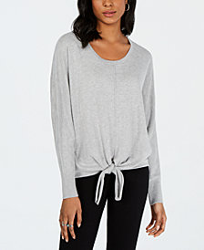 Style & Co Tie-Hem Sweater, Created for Macy's