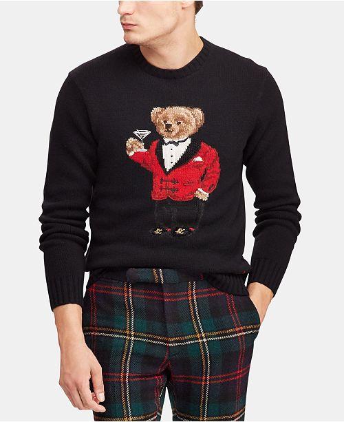 Polo Ralph Lauren Men s Lunar New York Polo Bear Sweater   Reviews ... 63472767ddea0