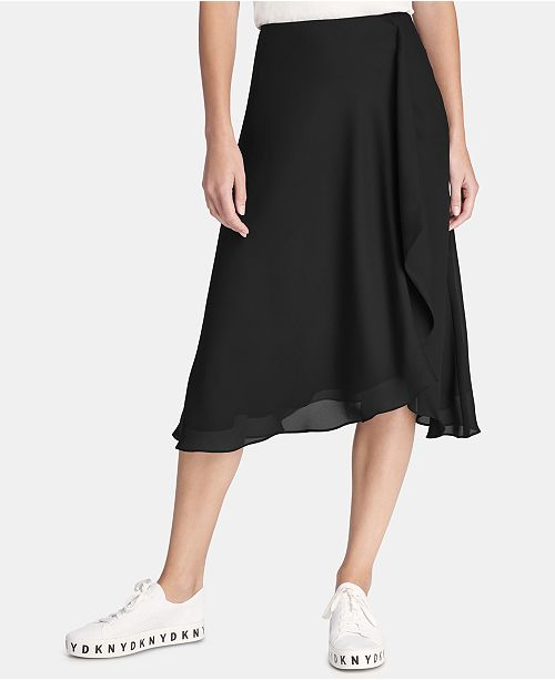 super quality bottom price undefeated x DKNY Draped Midi Skirt & Reviews - Skirts - Women - Macy's
