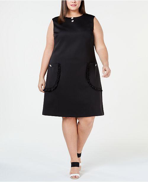 Betsey Johnson Plus Size Pocket Shift Dress