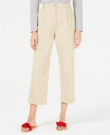 Weekend Max Mara Pleat-Front Cropped Pants