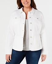 2694e3d350a Charter Club Plus Size Denim Jacket