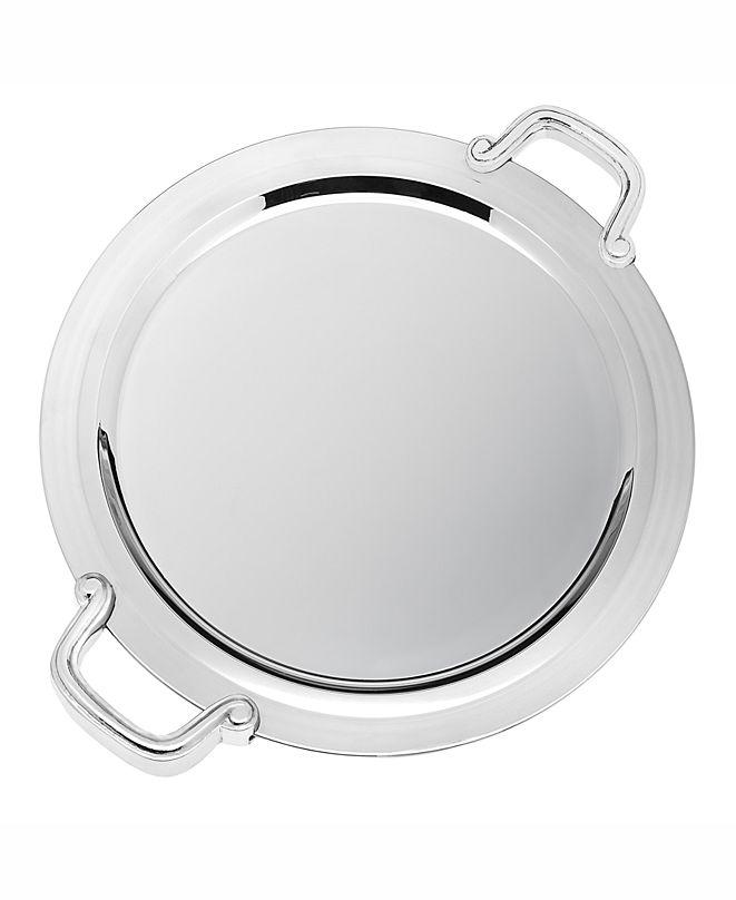 "Godinger Revere 14"" Round Handled Tray"