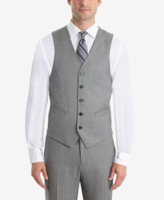 Men's UltraFlex Classic-Fit Sharkskin Wool Vest
