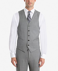 Men's UltraFlex Classic-Fit Sharkskin Wool Vest