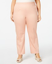 1e3c4a36cf8 Alfred Dunner Plus Size Good To Go Pull-On Pants