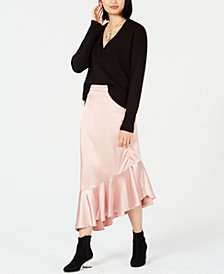Bar III Sweater & Satin Skirt, Created for Macy's