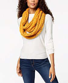 MICHAEL Michael Kors Pointelle Cable-Knit Infinity Scarf