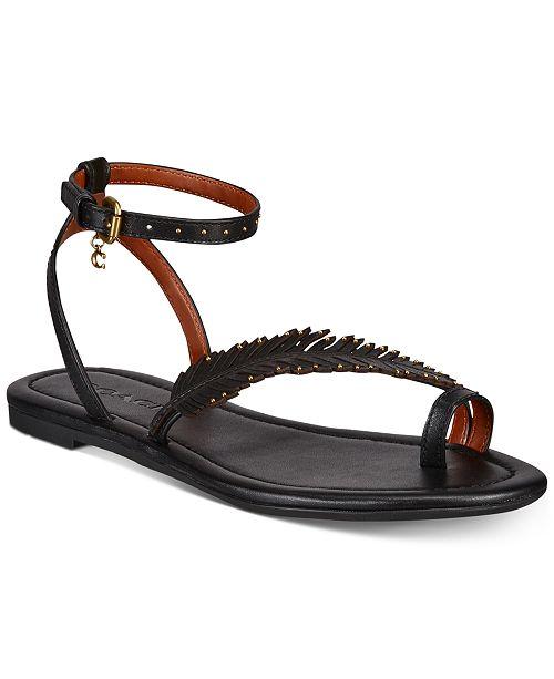 f3712203dde9 COACH Lily Flat Feather Sandals   Reviews - Sandals   Flip Flops ...
