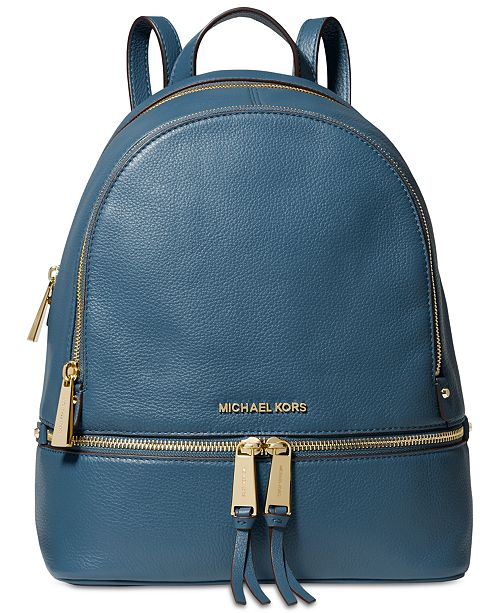 67aa57739be6 Michael Kors Rhea Zip Small Pebble Leather Backpack   Reviews ...