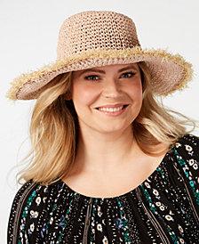 Steve Madden Frayed Crochet Bucket Hat