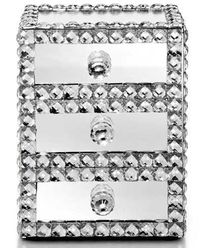 Mirrored sparkle jewelry box macy 39 s for Macy s standing jewelry box