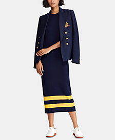 Polo Ralph Lauren Striped Wool Dress
