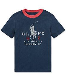 Polo Ralph Lauren Toddler Boys Graphic Cotton Ringer T-Shirt