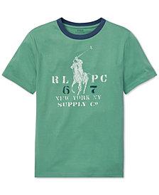 Polo Ralph Lauren Big Boys Graphic Cotton Ringer T-Shirt