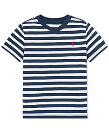 Polo Ralph Lauren Little Boys Striped V-Neck T-Shirt