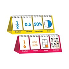 Junior Learning Educational Flip Card Set Fractions