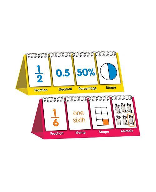Junior Learning Educational Flip Card Set Fractions