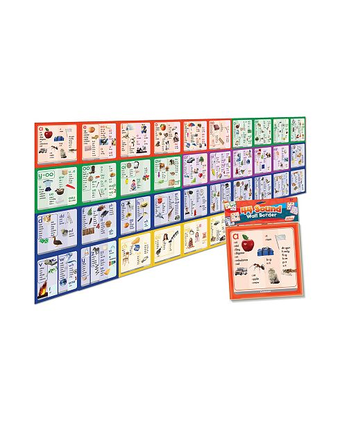 Junior Learning 44 Sound Wall Border Educational Learning Set