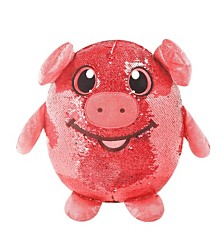 "Shimmeez 8"" Polly Pig, Sequin Plush Stuffed Animal"