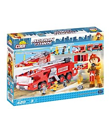 Action Town Airport Fire Truck 420 Piece Construction Blocks Building Kit