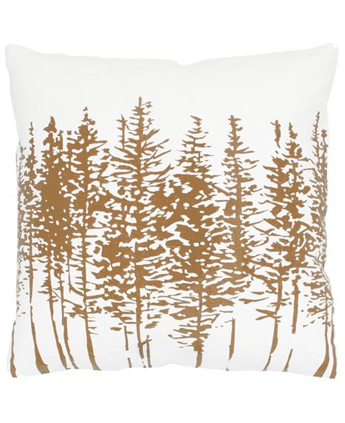"Rizzy Home 18"" x 18"" Trees in a Line Down Filled Pillow"