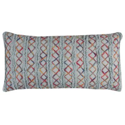 "14"" x 26"" Textured Stripe Down Filled Pillow"
