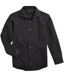 DKNY Big Boys Striped Dress Shirt