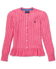 Big Girls Peplum Cardigan