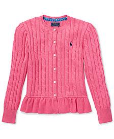 Polo Ralph Lauren Big Girls Peplum Cardigan