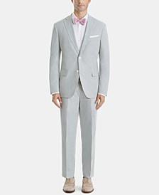 Men's Ultra-Flex Classic-Fit Seersucker Cotton Suit Separates