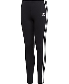 adidas Originals Big Girls 3-Stripes Leggings