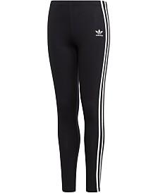 adidas Originals Big Girls 3-Stripes Leggings