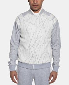 Sean John Men's Fragmented Sweater Jacket