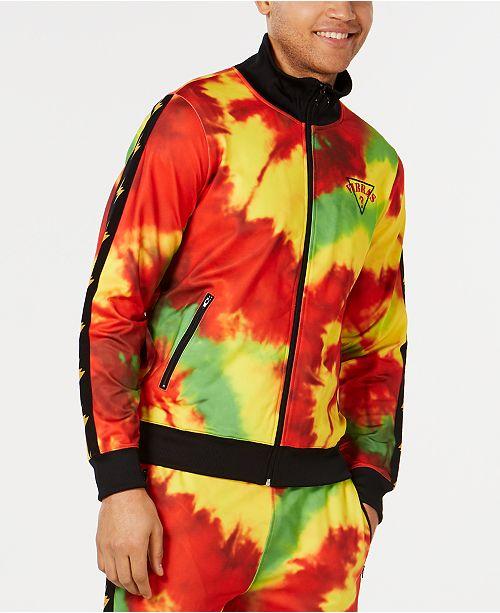 GUESS J Balvin X  Men's Tie Dye Track Jacket