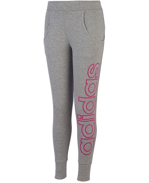 adidas Little Girls Linear Jogger Pants