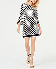 I.N.C. Geo-Print Knit Sheath Dress, Created for Macy's