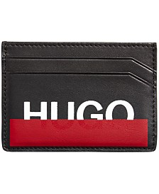 Hugo Boss Men's Roteliebe Colorblocked Leather Cardholder