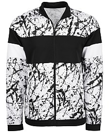 ID Ideology Men's Printed Colorblocked Track Jacket, Created for Macy's
