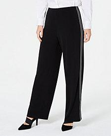 Alfani Petite Varsity-Striped Pants, Created for Macy's