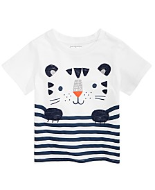 First Impressions Baby Boys Striped Tiger T-Shirt, Created for Macy's