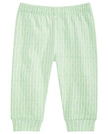 First Impressions Baby Boys Herringbone Cotton Jogger Pants, Created for Macy's
