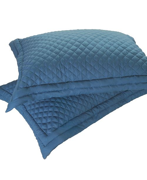 Epoch Hometex inc Lotus Home Diamond Stitch Quilted Sham with Stain Resistant Microfiber