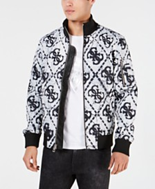 GUESS Men's Quilted Moon Crater Jacket