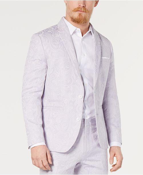 INC International Concepts I.N.C. Men's Slim-Fit Paisley Blazer, Created for Macy's