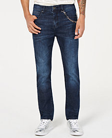 I.N.C. Men's Tapered Moto Jeans, Created for Macy's