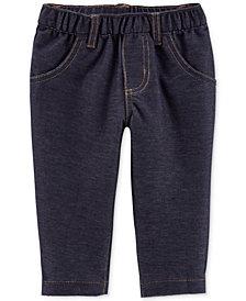 Carter's Baby Girls Cotton Denim Knit Pants